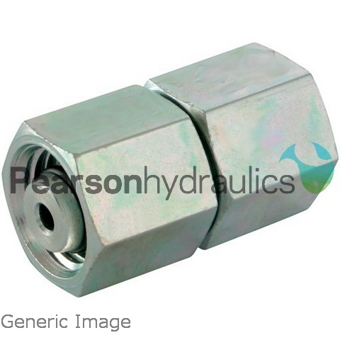 Metric Compression Straight Female Swivel Connector