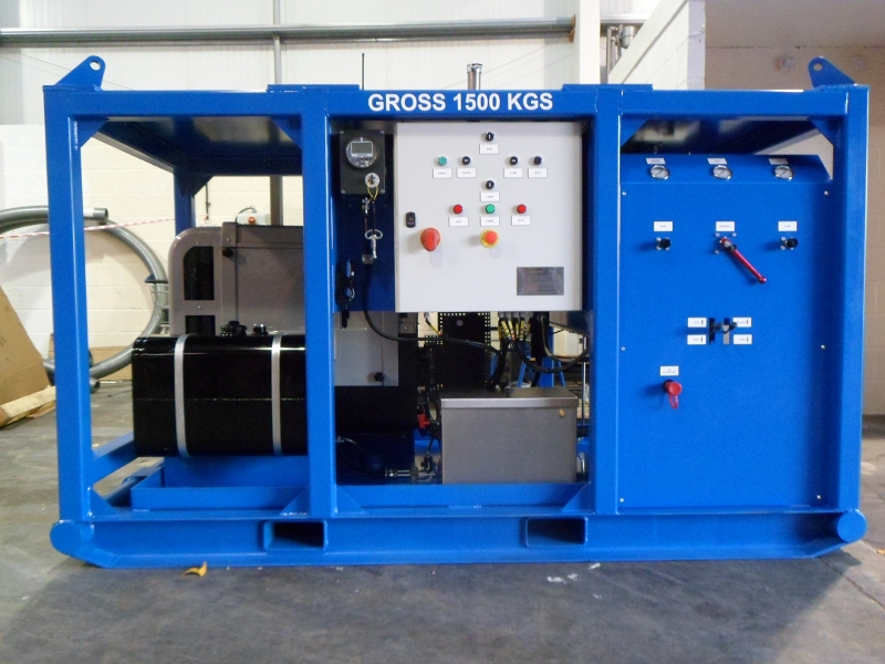 Custom Designed Hydraulic Power Unit for Foundation Casing Extractor
