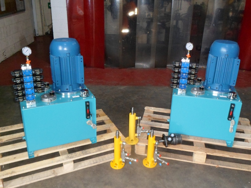 Custom Designed Hydraulic Power Units for Drive Through Bus Wash