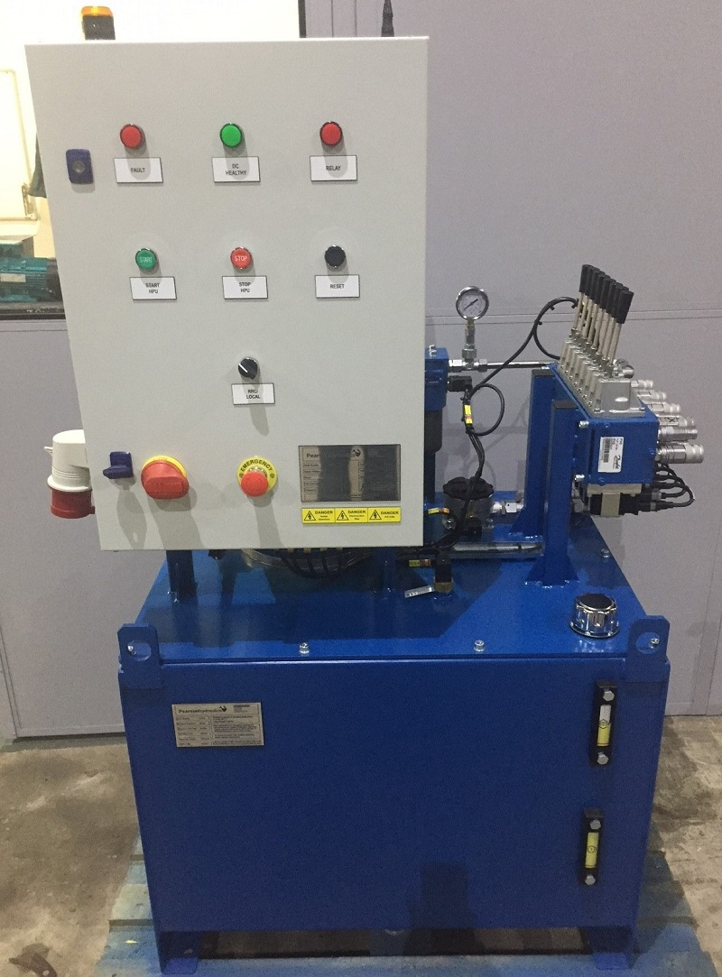 Hydraulic power unit for sea defence project