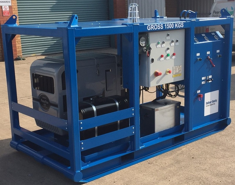 Hydraulic power unit for foundation casing extractor