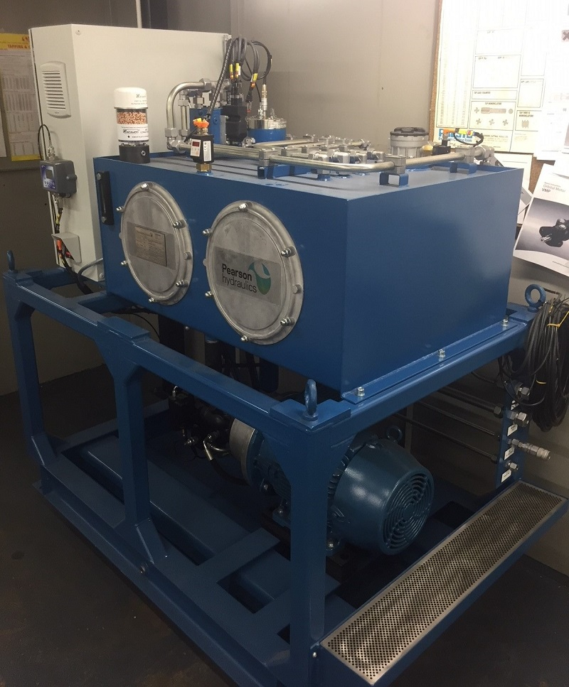 Hydraulic power unit for pressure test rig