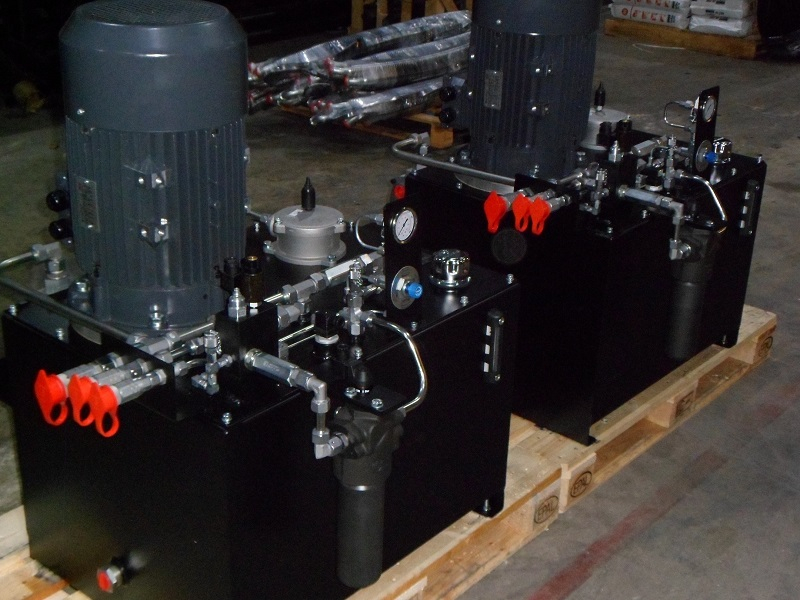 Hydraulic power units for fatigue test rig