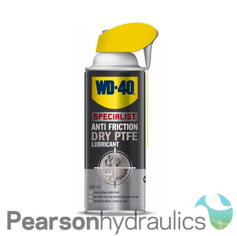 WD40 Anti Friction Dry PTFE Lubricant 400ML Smartstraw Can